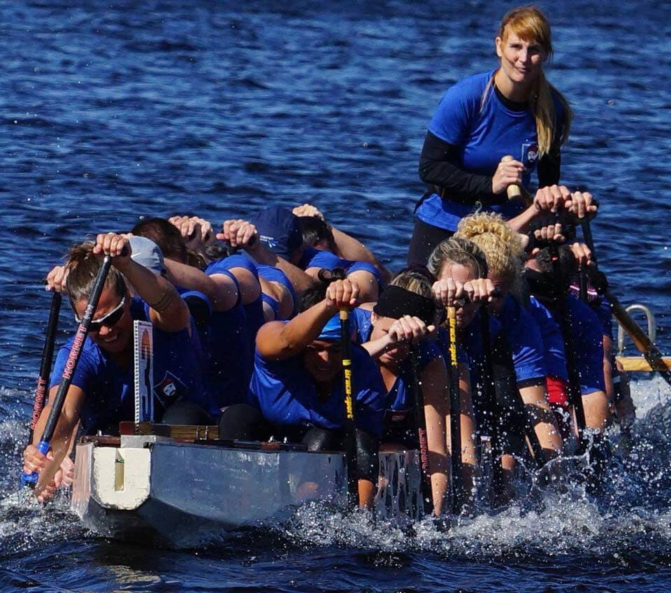 Image de l'équipe des Barbares de Québec en action lors d'une compétition